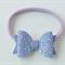 Lavender Glitter bow headband, Baby hair bow, Nylon headband